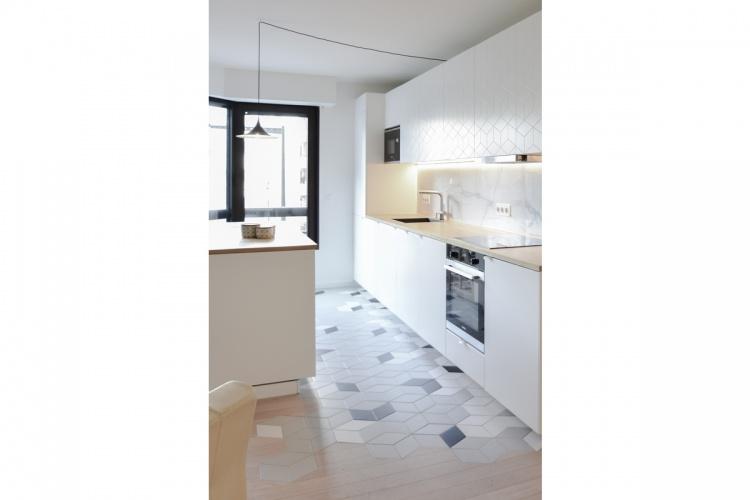 GALLIENI : architecte-restructuration-appartement- incrustation-carrelage-AREA-Studio