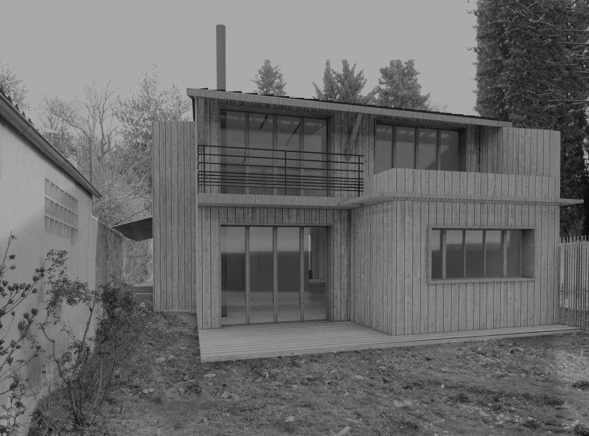 construction maison bois projet en cour