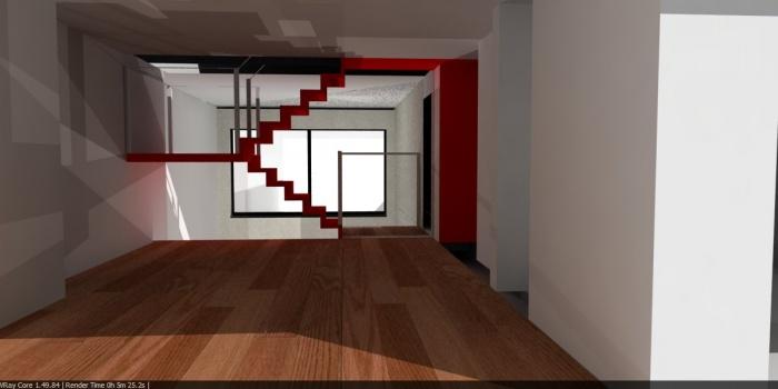 Rénovation d'une maison : Intérieur mezzanine