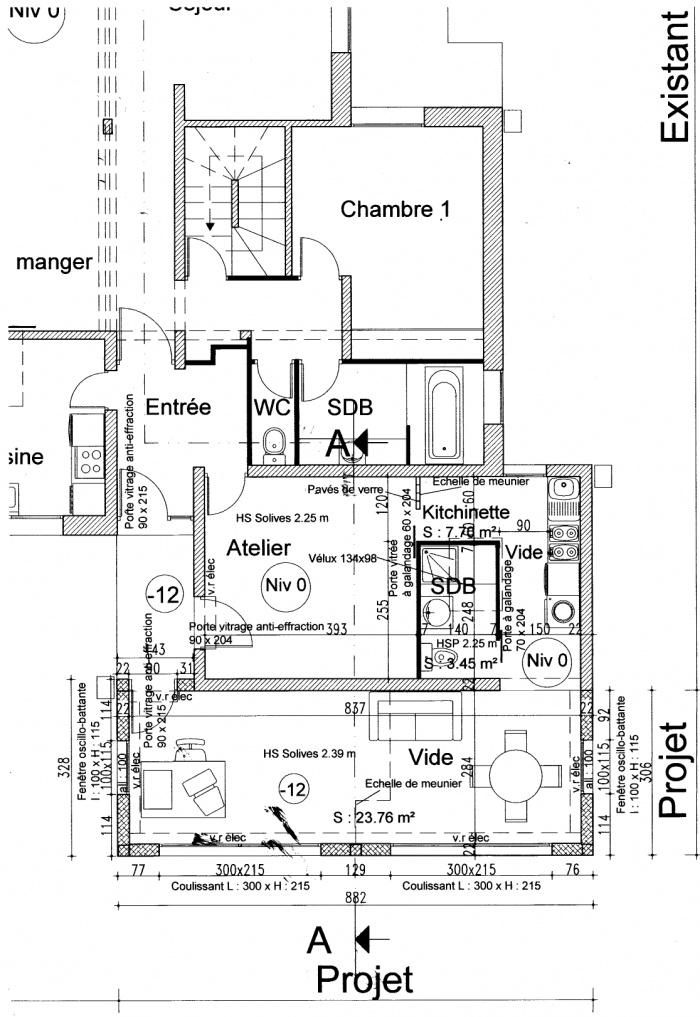 Extension d'une maison : Plan extension
