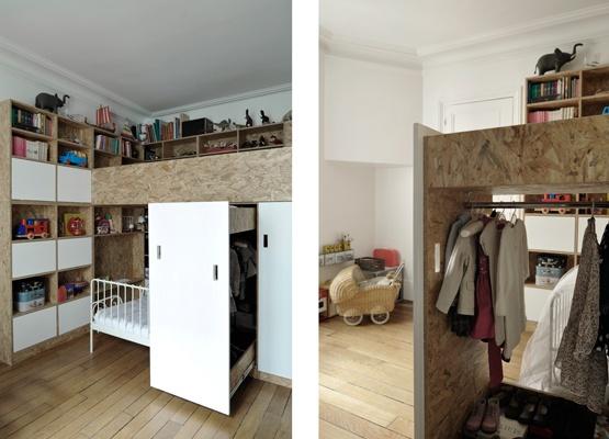 Chambre pour deux enfants en OSB : cielarchitectes-02J-chambre-19
