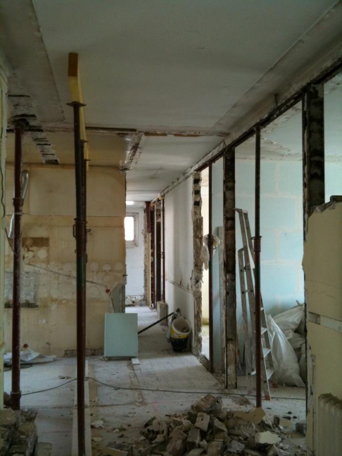 Appartement T : photo du chantier