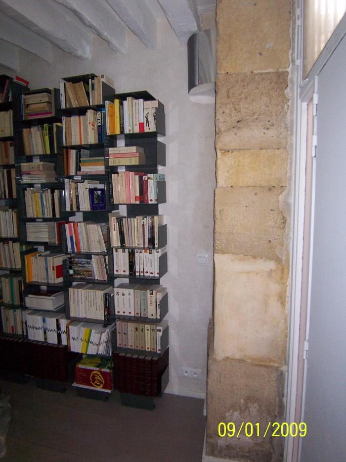 mariage de l'Orient et de l'Occident : bibliothèque acier