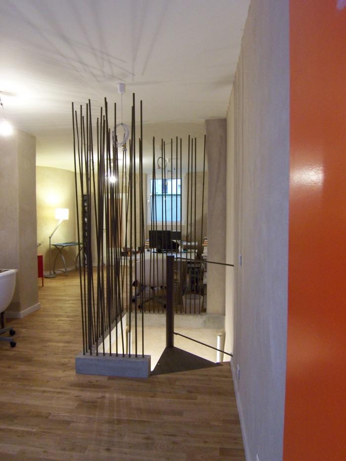 Elastic, vitrine d'un savoir-faire : cage d'escalier