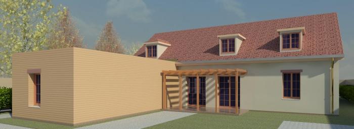 Projet D'une Maison individuelle à Orleans : Coté Sud