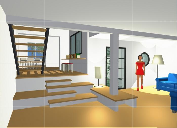 Maison de Mr et Mme Bocquillon : Vue intérieure