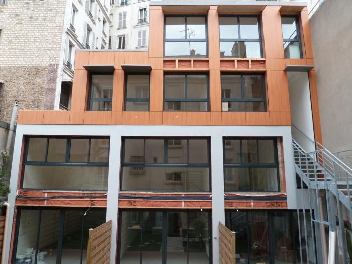 Trois maisons de ville, duplex et studio