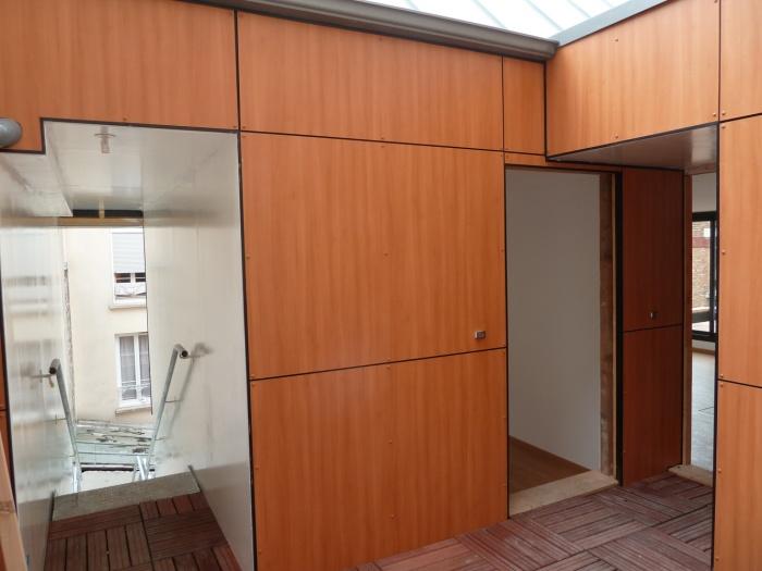 Trois maisons de ville, duplex et studio : accès duplex et studio