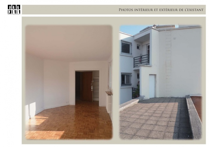 Aménagement de l'accès à une toiture terrasse, 75 017
