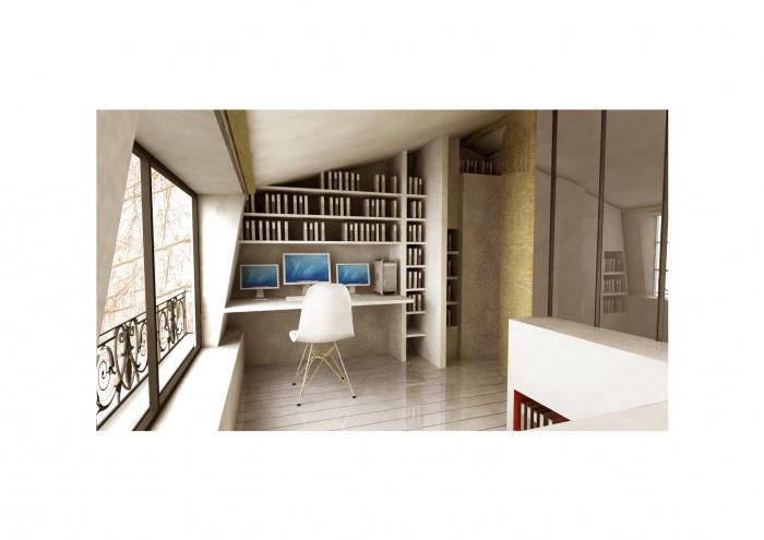 surélévation pavillon / MAISON R : Montage 3D du projet