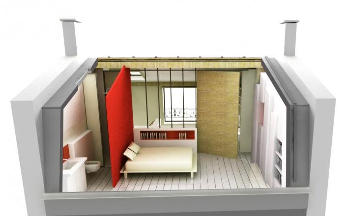surélévation pavillon / MAISON R : Montage 3D du projet (2)