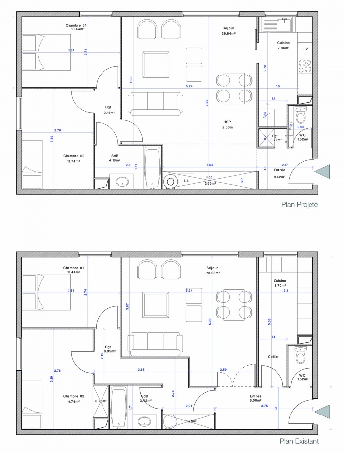 Appartement CF : Plan