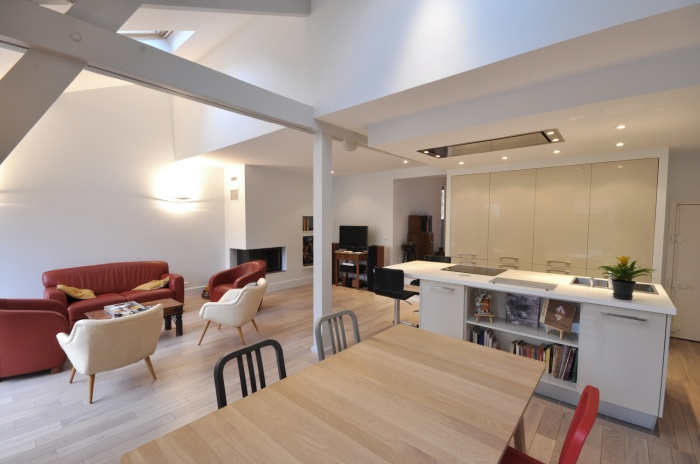 Rénovation d'une maison individuelle : Pièce à vivre 2