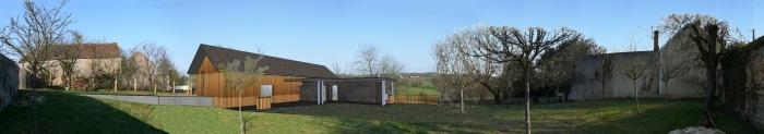 Maison bois en cours de construction : 1 projet vue du haut