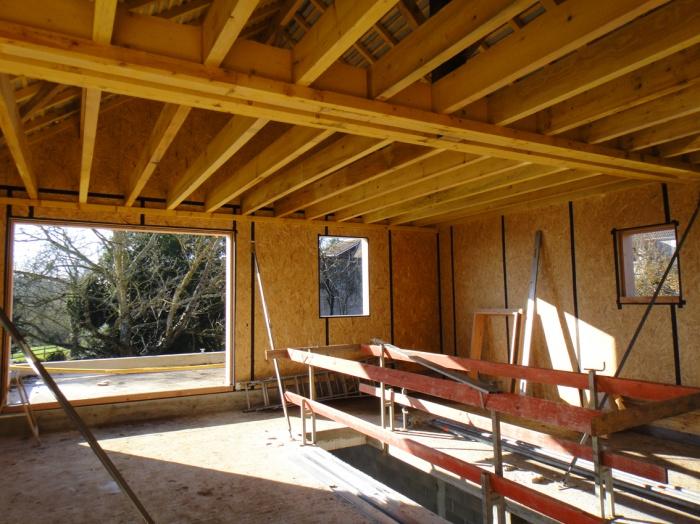 Maison bois en cours de construction