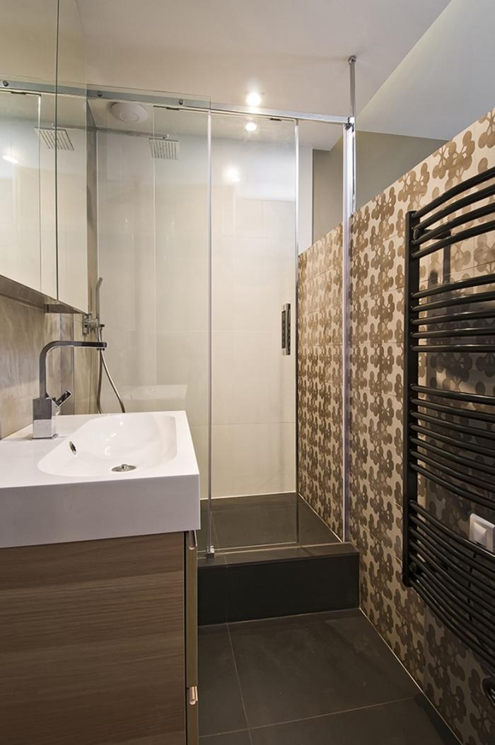 Appartement rue du Chemin vert : Salle de bain