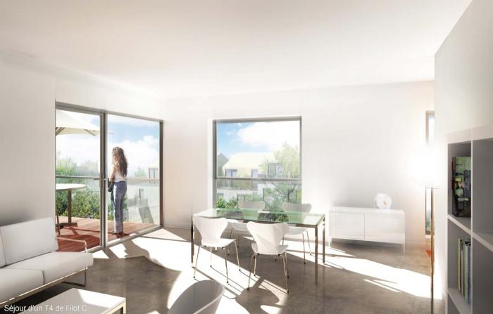 Au fil de l'eau - 62 logements au bord de l'Huisne (28) : Salon