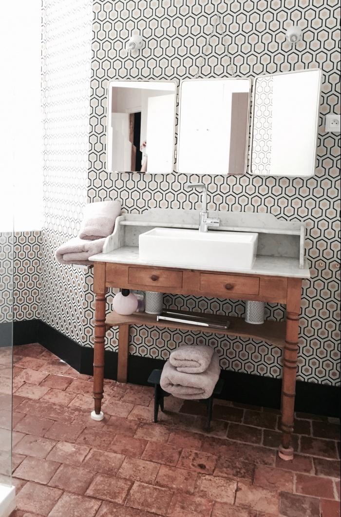 maison de campagne : salle de bains R+1
