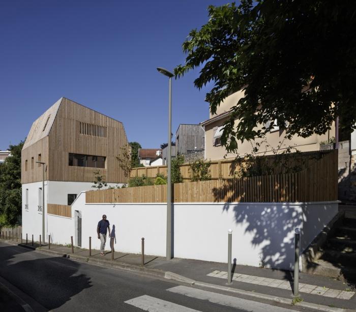 Extension en bois et restructuration d'une maison : 2