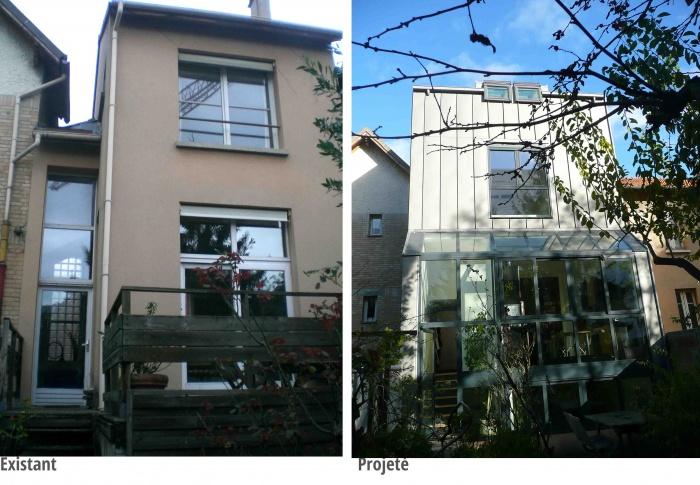Extension d'une maison : Vue sur jardin