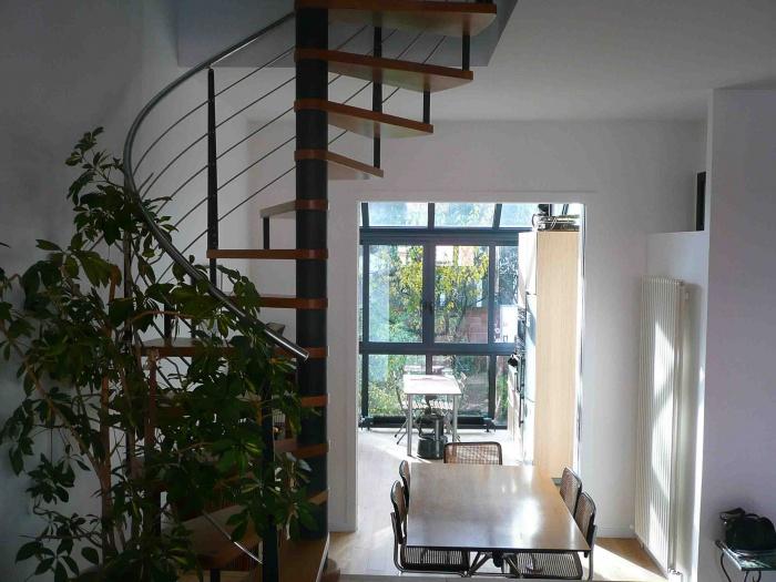 Extension d'une maison : escalier BR